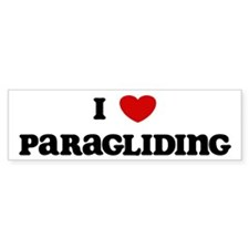 I Love Paragliding Bumper Car Sticker