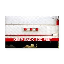 Keep Back 500 Feet Rectangle Car Magnet