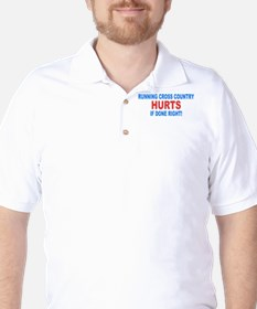 Cross Country Hurts Done Right Golf Shirt