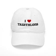 I Love Triathlons Baseball Cap