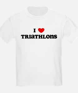 I Love Triathlons Kids T-Shirt