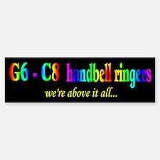 G6 - C8 Black Bumper Bumper Bumper Sticker
