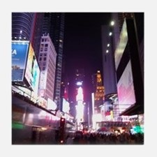 New York Times Square at Night Tile Coaster