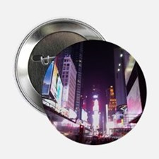 """New York Times Square at Night 2.25"""" Button"""