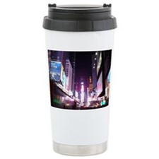 New York Times Square at Night Travel Mug