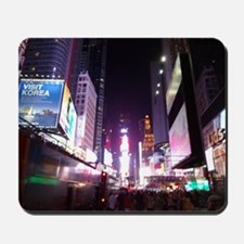New York Times Square at Night Mousepad