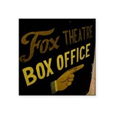 """Box Office This Way Square Sticker 3"""" x 3"""""""