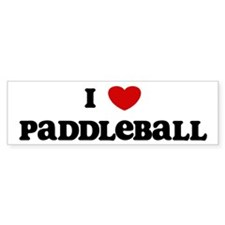 I Love Paddleball Bumper Bumper Sticker