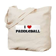 I Love Paddleball Tote Bag