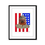 Bullldog Marine Framed Panel Print