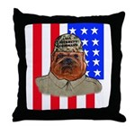 Bullldog Marine Throw Pillow