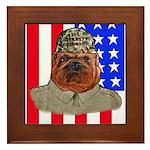 Bullldog Marine Framed Tile