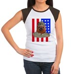 Bullldog Marine Women's Cap Sleeve T-Shirt