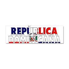 Dominican Republic Car Magnet 10 x 3