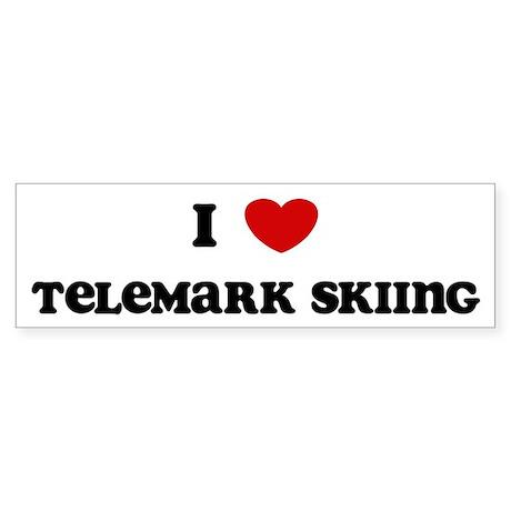 I Love Telemark Skiing Bumper Sticker