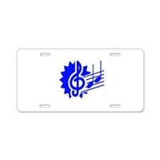 treble clef eighth notes staff graphic blue Alumin