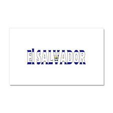 El Salvador Car Magnet 20 x 12