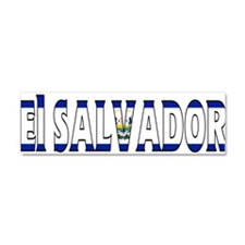 El Salvador Car Magnet 10 x 3