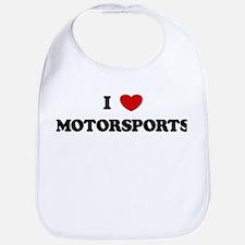 I Love Motorsports Bib