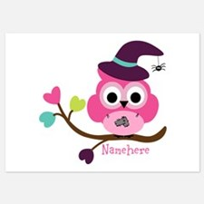 Personalized Wicked Witch Owl 5x7 Flat Cards