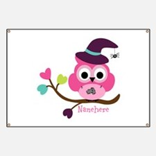 Personalized Wicked Witch Owl Banner