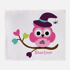 Personalized Wicked Witch Owl Throw Blanket