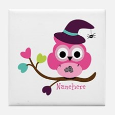 Personalized Wicked Witch Owl Tile Coaster