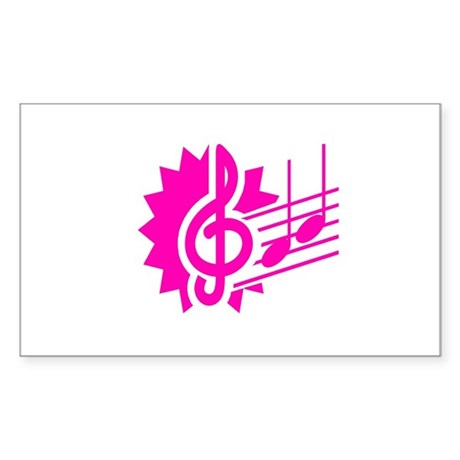 treble clef eighth notes staff graphic purple Stic