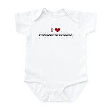I Love Synchronized Swimming Infant Bodysuit