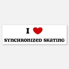 I Love Synchronized Skating Bumper Bumper Bumper Sticker