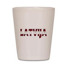 Latvia Shot Glass