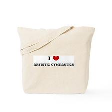 I Love Artistic Gymnastics Tote Bag