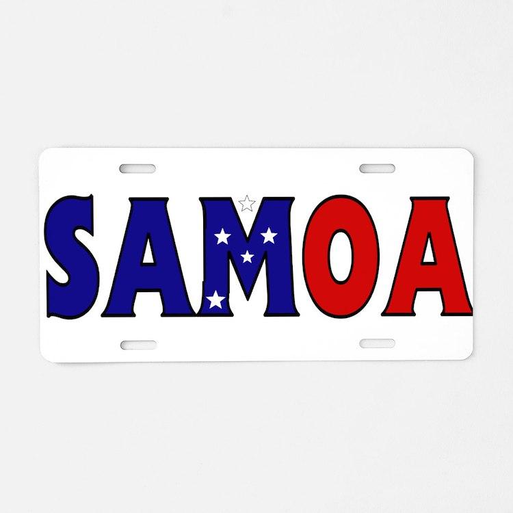 Samoa Aluminum License Plate
