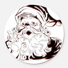 Classic Santa Round Car Magnet