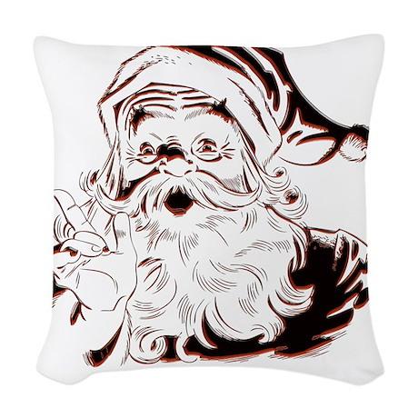 Classic Santa Woven Throw Pillow