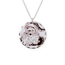 Classic Santa Necklace Circle Charm