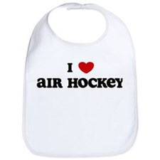 I Love Air Hockey Bib