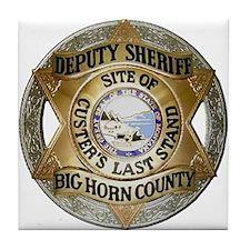 Big Horn County Sheriff Tile Coaster