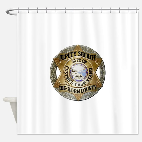 Big Horn County Sheriff Shower Curtain