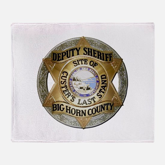 Big Horn County Sheriff Throw Blanket