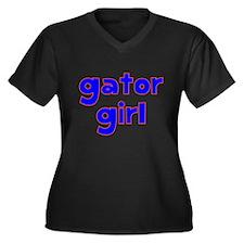 Gator Girl Women's Plus Size V-Neck Dark T-Shirt