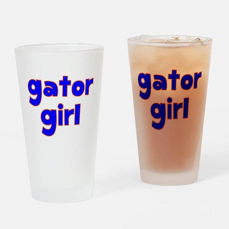 Gator Girl Drinking Glass