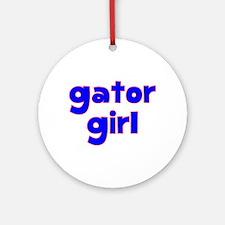 Gator Girl Ornament (Round)