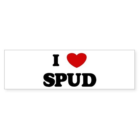 I Love Spud Bumper Sticker