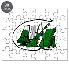 bust green lyre violin sheet music design Puzzle