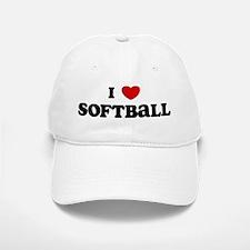 I Love Softball Baseball Baseball Cap