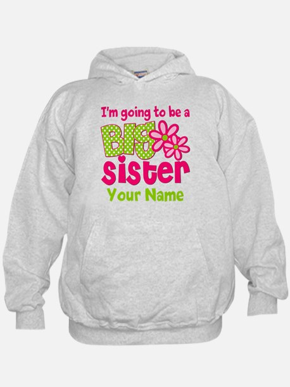Big Sister To Be Pink Green Hoodie