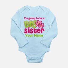 Big Sister To Be Pink Green Body Suit