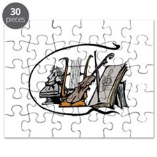 bust lyre violin sheet music design Puzzle