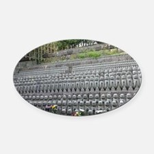 Hase-dera Oval Car Magnet